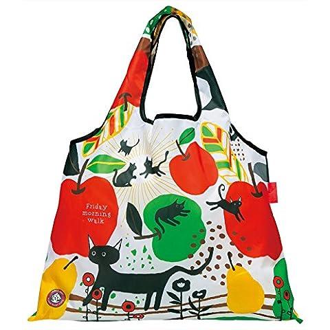 Moderno, único, ecológico bolsa de ocio por Prairiedog Ltd, diseñadores Japón Marca (Primavera/Verano 2015)–Megumi Nakamura Series–Cat (Limited