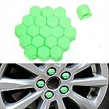 20Kappen aus Silikon Auto Rad Hub 17mm Muttern Felgen Böckchen Schrauben Schraube Rost Bezüge grün