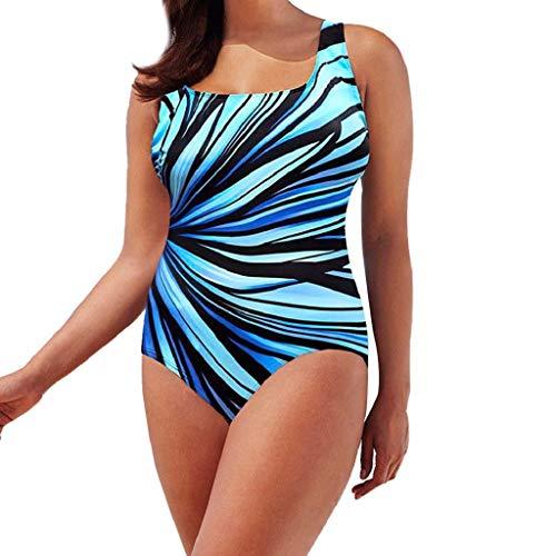 62f4c18854df CAOQAO Moda Sexy Signora di Grandi Dimensioni Bande Radiazioni congiunte  Backless Appeso Spalla Costume da Bagno