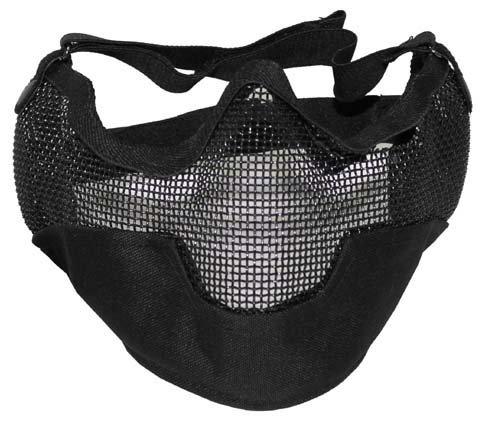 Gesichtsschutzmaske Paintball Softair in schwarz zu MFH