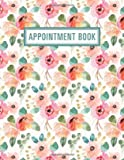 Appointment Book - 15 Minute Increments | Appointment Planner | Daily Hourly Schedule | + BONUS Client Information Pages | Peach Mint Floral