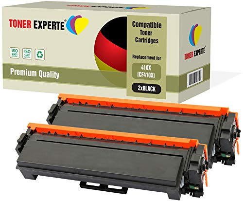 2er Pack TONER EXPERTE® Schwarz Premium Toner kompatibel zu HP 410X CF410X für HP Color Laserjet Pro M452dn M452nw M452dw MFP M377dw M477dw M477fdn M477fdw M477fnw -