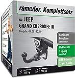 Rameder Komplettsatz, Anhängerkupplung abnehmbar + 13pol Elektrik für Jeep Grand Cherokee III (148467-05438-2)