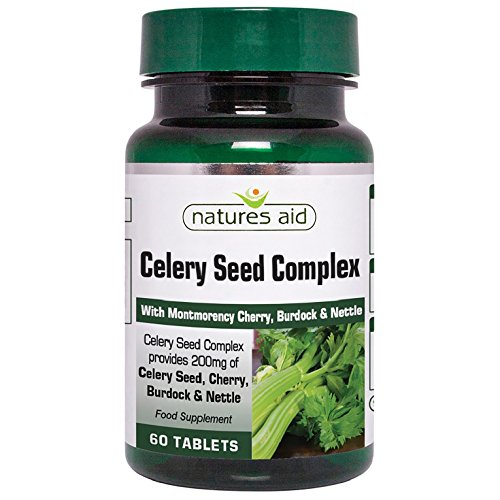 Natures Aid Celery Seed Complex Tablets - Pack of 60 Tablets Test