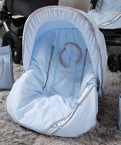 Babyline Bombón - Colchoneta para silla grupo 0, color azul
