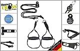 BodyCROSS PREMIUM Schlingentrainer mit Umlenkrolle | inkl. Übungsposter, 10-Wochen Trainingsplan, Türanker und Befestigungsschlaufe | Rotate Sling Trainer | HAND Made in Germany | 3 Jahre Garantie