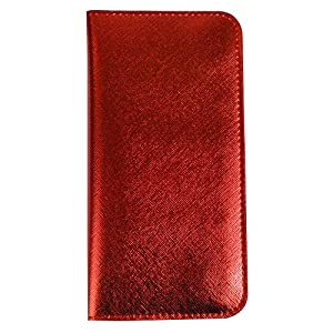 Emartbuy® PU Leather Magnetic Slim Wallet Case Cover Sleeve for Huawei Mate SE (Size LM4_Metallic Red Plain)