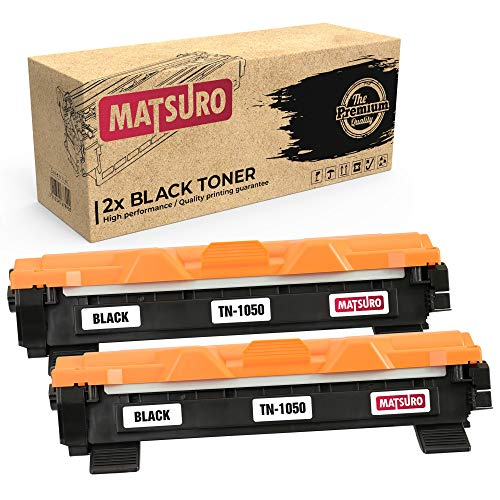 Matsuro Originale | Compatibili Cartuccia Del Toner Sostituire Per BROTHER TN-1050 (2 NERO)