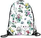 jiilwkie Drawstring Backpack Rucksack Shoulder Bags Gym Bag Travel Backpack Number 7 leaves3 Lightweight Unique