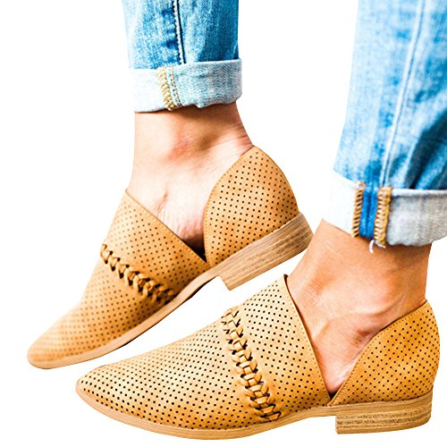 Ybenlover Damen Kurzschaft Flache Sommerstiefelette Ankle Boots Chelsea (40, Schwarz-2)