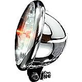 ShinYo Motorrad-Scheinwerfer H4 Hauptscheinwerfer Ø157mm Bates Klarglas unten Chrom, Unisex,...