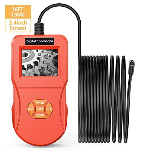 VITCOCO Industrie-Endoskop, Inspektions Kamera, Digitales Endoskop mit 6,4 cm LCD-Display, 3 MP Endoskop-Kamera, 5 mm Wasserdichte Schlangenkamera, Videoskop-Werkzeugkiste Endoscope1