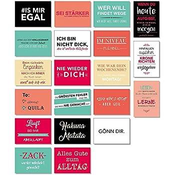 20 Postkarten Mit Sprüchen I Din A6 I Spruch Karten Set Lustig Witzig Zitate Deko Liebe Freundschaft Motivation Für Bilderrahmen I Dv 187