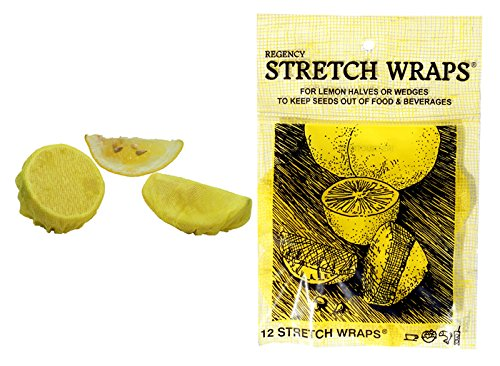 Regency Stretch Wraps for Lemon Halves and Wedges pack of 12 - 12 Highballs