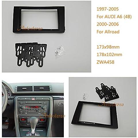 Autostereo mascherina per autoradio doppio DIN autoradio per Audi A64B 1997–2005Allroad 2000–2006auto radio stereo fascia pannello Audi A64B stereo fascia Dash CD con kit di installazione.