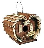 Garden Mile groß Luxus Neuheit Holz zum Aufhängen Vogel Hotel Garten Vogel Nestbau Box Vogelhaus Rustik Holz Robin Nester für kleine Garten Vögel
