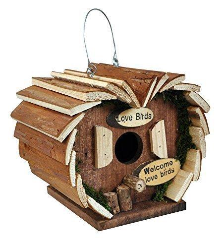 Garden Mile grand deluxe Nouveauté bois suspendu OISEAU Hôtel jardin oiseau nidification BOITE Nichoir RUSTIQUE BOIS ROBIN NID POUR PETITS jardin oiseaux