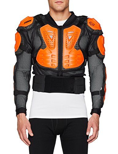 Fox Herren Titan Sport Jacke, Black/Orange, L Motorrad Safety Jacket