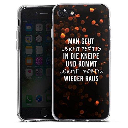 Apple iPhone X Silikon Hülle Case Schutzhülle Kneipe Humor Spruch Silikon Case transparent