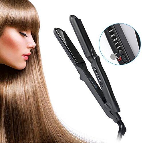 OTraki Straightening Iron Hair 4 in 1 Ionic Hair Straightener 1.5 inch Ceramic Titanium Plates Four-level Temperature Hair Smooth PET Anti-Spliss 60 Sec Fast Heat Hair Styling 360 ° 2.5m Cable 100-240