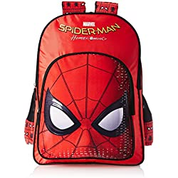Spiderman Polyester Red School Bag (Age group :6-8 yrs)