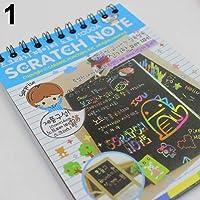 AchidistviQ Kids Rainbow Colorful Scratch Art Kit Magic Drawing Painting Paper Notebook Gift