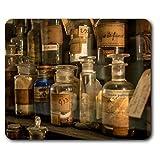 Confortevole Tappetino mouse - Vintage Medical Vasi Farmacia 23,5 x 19,6 cm (9,3 x 7,7 pollici) per il calcolatore & computer portatile, ufficio, regalo, base antiscivolo - RM2367