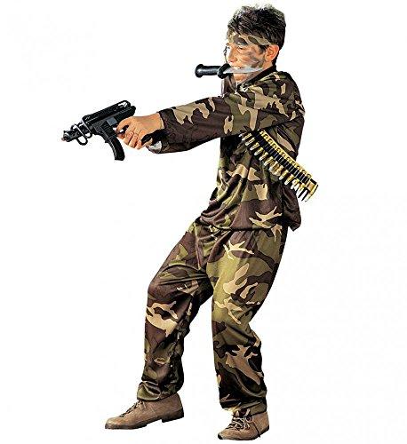 shoperama Kinder-Kostüm Special Force Soldat Camouflage Grün Jungen Teenager Tarnfarbe, Kindergröße:140 - 8 bis 10 - Special Forces Kind Kostüm