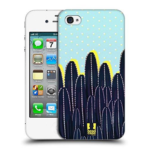 Head Case Designs Muster Kaktus Drucke Ruckseite Hülle für Apple iPhone 4 / 4S Punkte