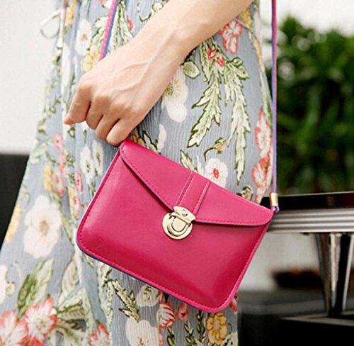 Covermason Damen Handtaschen Schultertaschen Einzel-Umhängetasche Null Geldbörse Tasche Einzel-Schulter-Kurier-Telefon-Beutel Hot Pink F