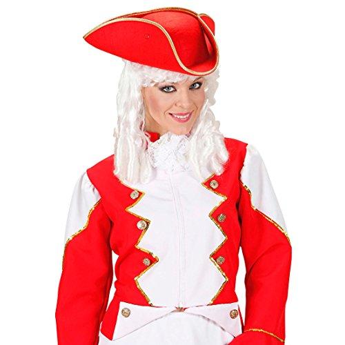 Piratenhut Dreispitz Funken Hut rot, Filz Tänzerin Kopfbedeckung Piraten Hut Uniform Gardehut Seefahrer (Hut Filz Piraten)