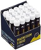Multipower Supplements Magnesium Liquid im 20er Pack (20 Ampullen / insg. 500 ml) - Hochkonzentriertes Magnesiumcitrat unterstützt die Regeneration - Mineralstoff beugt Muskelkrämpfen vor