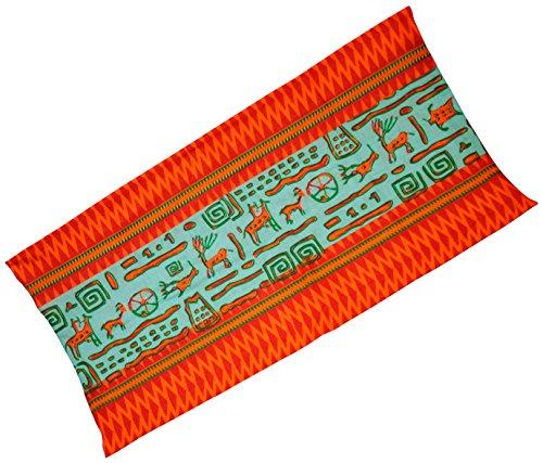 ktionstuch - Tiere rot-mint - Multi-Schal Multi-Tuch Schlauch-Schal Schlauch-Tuch Chemo-Mütze Halstuch Stirnband Loop Loop-Schal Multiscarf RS 24 (Tier-stirnbänder)