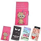 ikracase Slide Motiv Hülle für Medion Life E5008 Smartphone Handytasche Handyhülle Schutzhülle Tasche Case Cover Etui Design 1 - Katze