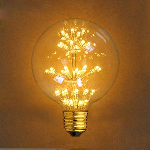 Dekoratives Licht Leuchtmittel, xinrong altmodisch Edison Glühbirne Antik Spirale Stil E27220V 2W LED Vintage-Glühbirne G952300K Warm Weiß Glow für Anhänger Licht Lampe Xmas Urlaub Dekoration