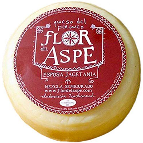 Queso Mezcla Semi-Curado - Queso del Pirineo app. 750 gr. - Flor del Aspe