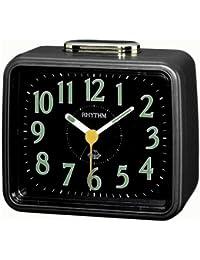 Rhythm(Japan)Metallic Blue Radium Bell Alarm Clock 10.4x8.5x5.6cm