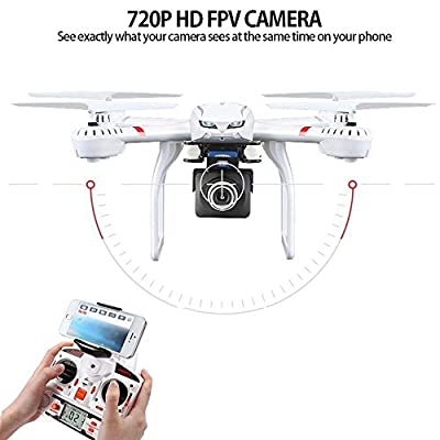 DBPOWER X101C FPV WIFI Drone with HD Camera Headless Mode Live Video Quadcopter Compatible with GoPro Camera and VR Headset