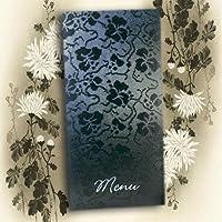 Arazzo nero pizzo a mano libera argento goffrate DIY wedding menù da tavolo con inserti, con stampa a X 10