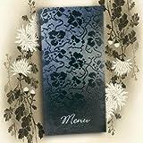 Broderie de tapisserie Motif dessin à main levée Noir en gaufrage argenté bricolage Table pour menu avec Inserts Inc à imprimer x 10...