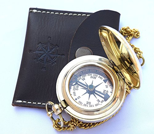 Vintage Kompass von Euphoria Collection Solide Messing compass compass in einer Box/case compass...