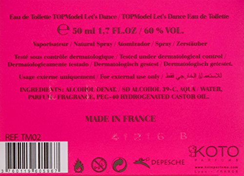 TOPModel Let's Dance, Eau de Toilette, 1er Pack (1 x 50 ml)