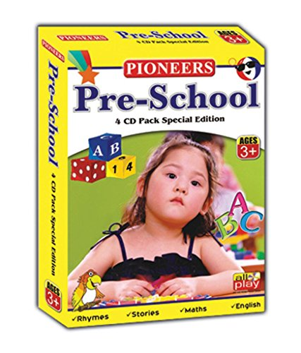 PIONEERS Pre-School 4 CD Pack Special Edition : Age 3+ : Pre-School Essentials | Rhymes & Songs | Fabulous Moral Stories Vol 1&2 | Universal Syllabus