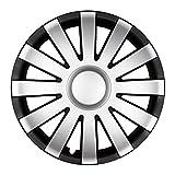15 Zoll Radkappen AGAT Schwarz-Silber matt (Farbe und Größe wählbar!)