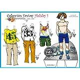 Colección Fantasy Holiday. Recortables. Recortar y vestir personajes: para payasos, deportistas, vestidos de noche, de fiesta, skate, love, etc.
