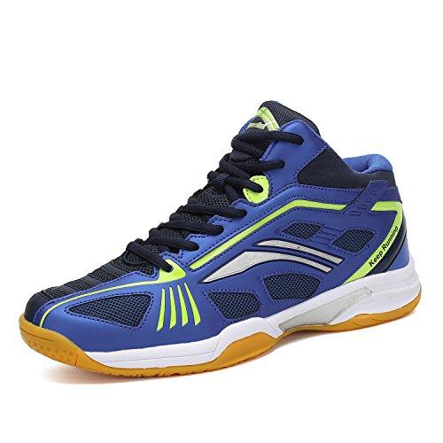 Unisex Uomo Donna Scarpe da Pallavolo Tennis Badminton Interior Squash Scarpe da Corsa all'Aperto Running Sneakers Blu, 42 EU