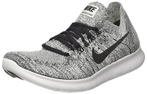 buy popular 480c7 cdcba NIKE WMNS Free RN Flyknit 2017, Chaussures de Trail Femme, Multicolore  (White