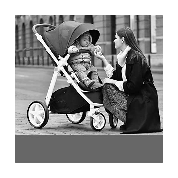 Baby Stroller Portable Seat High Landscape Stroller European Two-way Shock Absorber Trolley Folding (Color : BLUE, Size : 107 * 60 * 66CM) Strollers Zhangsisi ☻【Scope of use】Twin strollers for urban and rural multi-purpose trolley bearing an amazing amount of public plate, and comfortable to use, powerful ☻【powerful functions】 Convenient for travel and driving, our baby car is easy to fold, small footprint, single wheel suspension, front tray, accessories, adjustable seat angle, sturdy frame with adjustable seat adjustment and comfortable fit baby chair. ☻【safe and comfort】 Baby can not afford to hurt, the most important health, safety and comfort, a key release of 5-point seat belts. 6