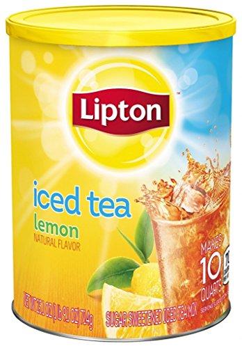 Lipton Iced Tea Natural Lemon Makes 10 Quarts. 714g