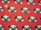 Prestige Süßer Mops Hunde Print Crafts Quilting Poly